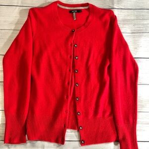 Apt. 9 • Red Cashmere Cardigan Small